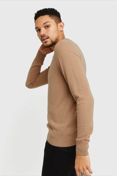 A timeless staple. Our cashmere crew features 100% Grade A Mongolian cashmere. A versatile classic, it can easily be worn when you need to look your best, and worn casually with a pair of jeans or around the house. It'll soon become a part of your everyday uniform. Cashmere Sweater Men, Men Sweater, Best Sellers, That Look, Pairs, Jeans, Classic, House, Collection