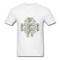 Android And Apps White Adult Standard Weight T-shirt For Men Supply-Symbols & Shapes  Clothing with 98% happy customers! Create custom shirts and personalized goods at HICustom,Use our online designer to add your design, logos, or text. easily!