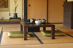 Japanese traditional seating Tea party.