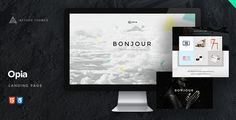 Opia - Parallax Coming Soon Page by Aether-Themes Opia.Full-service coming soon & landing page. Opia is a fully responsive and retina ready coming soon page. It offers stunnin Coming Soon Page, Html Website Templates, 404 Page, Icon Set, Wordpress Theme, 3 D, Landing, Columns, Modern