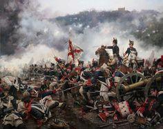 La batalla de San Marcial. Batalla de la guerra de la Independencia, cerca de San Sebastián, en la cual el Cuarto Ejército Español bajo el mando del general Freire hizo a retroceder a las tropas del mariscal Soult (31 de agosto de 1813).Crónicas24 - Todas las batallas de Augusto Ferrer-Dalmau