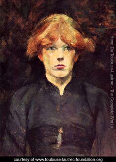 Portrait of Carmen - Henri De Toulouse-Lautrec - www.toulouse ...