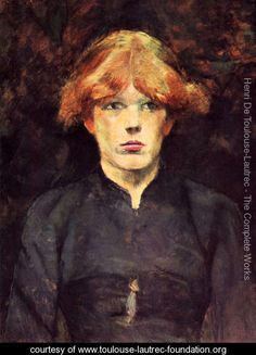 Portrait of Carmen - Henri De Toulouse-Lautrec - www.toulouse-lautrec-foundation.org