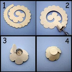 Morning all Vicky here today to show you how I make my rolled flowers using the Rolled Scalloped Flower DieLight Die is part of Rolled paper flowers - Rolled Paper Flowers, Paper Flowers Diy, Paper Roses, Handmade Flowers, Felt Flowers, Flower Crafts, Diy Paper, Fabric Flowers, Paper Crafts