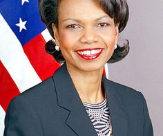 Condoleezza Rice - First African American woman to be appointed Secretary of State. First woman to be appointed National Security Advisor.
