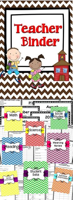 Teacher Binder - This teacher binder will help with classroom organization throughout the entire school year. This binder includes editable forms and an easy to us format for teachers to keep track of important information. Click here to download this wonderful teacher time-saver!