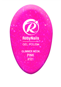 RobyNails Glimmer Neon Pink: extravagant and voluptuous, it highlights your passionate side