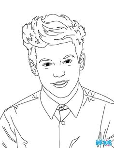 Zayn Malik Coloring Page From One Direction Boys Band
