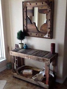 pallet rustic vintage entryway idea