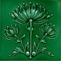 F - Art Nouveau tile Motifs Art Nouveau, Azulejos Art Nouveau, Design Art Nouveau, Arts And Crafts Movement, Vintage Tile, Vintage Art, Ceramic Tile Art, Jugendstil Design, Art Nouveau Tiles