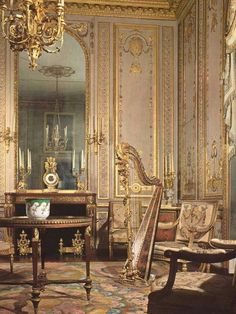 Marie Antoinette's private music room at Versailles.