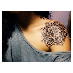 45  Cool Shoulder Tattoo Designs found on Polyvore featuring polyvore, women's fashion and accessories