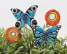 vlinder tuin kunst plant spel tuin decor vlinder door GVEGA