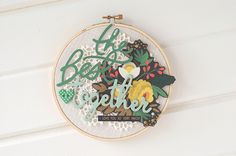#embroideryhoops by Valerie // via MME- How to make embroidery hoop displays a bit thicker
