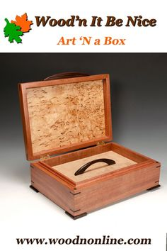 A finely crafted wood jewelry box makes a perfect gift for any occasion. This piece, built with imported woods and veneers is sure to provide a lifetime of pleasure and use. Jewellery Box Making, Jewelry Box, 5th Wedding Anniversary, Cool Art, Woods, Elegant, Nice, Crafts, Jewellery Box