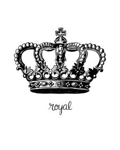 virus tattoo corona tattoo Printable Art Royal Crown Royalty Printable by happythoughtshop King Tattoos, Body Art Tattoos, Small Tattoos, Sleeve Tattoos, Tatoos, Crown Drawing, Crown Art, Crown Tattoos For Women, Tattoos For Guys