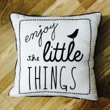 """Enjoy the little things"" Cushion Debenhams - Fishergate Shopping Centre"