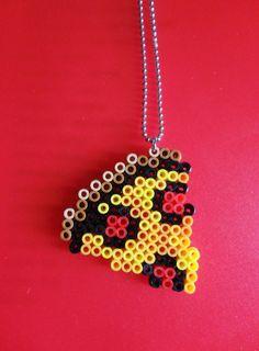 kawaii cute necklace pizza perler beads fuse hama pixel pixels