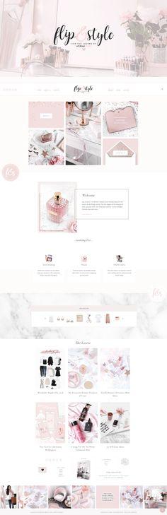 A feminine, pretty blog design & theme for fashion and beauty bloggers on Wordpress