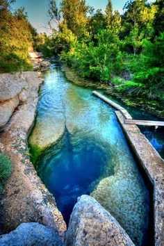 At around 120ft deep, Jacobs Well is one of the deepest underwater caves and we're dreaming of taking a dip in the beautiful spring water!
