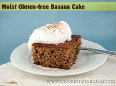 Moist Gluten-free Banana Cake - The Baking Beauties Looks wonderful! Of course I use plain Greek yogurt in place of the sour cream. Yum!