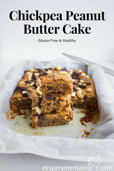 Chickpea Peanut Butter Cake