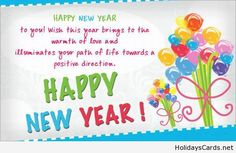 Warmth of love new year quote card