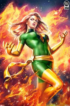 The hottest images and pictures of Jean Grey from X-Men. While we are talking about this hot woman, we want to now take you on a ride through a Jean Grey photo gallery. Marvel Comics Art, Marvel Heroes, Marvel Characters, Female Characters, Captain Marvel, Jean Grey Phoenix, Dark Phoenix, Phoenix Force, Marvel Women