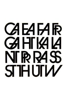 herb lubalin: ligatures (and one special character) from Avant Garde