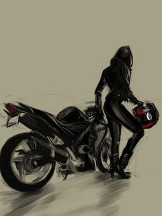 25 Best Ideas motorcycle for women biker girl black Motorbike Girl, Motorcycle Art, Bike Art, Pit Bike, Lady Biker, Biker Girl, Biker Love, Bike Photoshoot, Bike Illustration