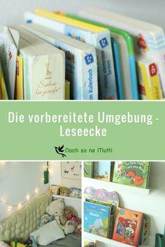 Leseecke als vorbereitete Umgebung. Montessori inspiriert #montessorientdecker