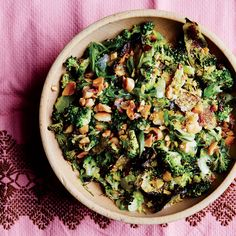Roasted and Charred Broccoli with Peanuts