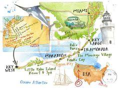 Cristiano Lissoni - Map of Florida Keys
