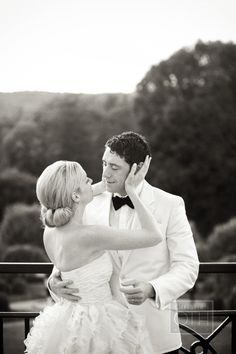 We love this intimate shot of the bride and the groom #bride #groom #love