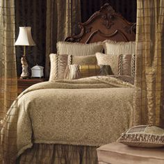 We could go the beige route and color it up with pillows and such, but this is so pretty as is.  BUT if we go with beige bedding, I'm afraid the rest of the room will follow and we'll end up being blah.