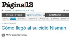 Piedra OnLine: Cómo llegó al suicidio Nisman