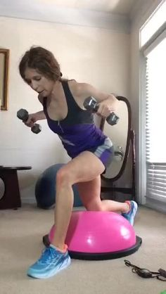"""🎯Beth Hoover Fitness🎯: """"@bosu balance trainer quick workout #core #totalbody #goodhealthontheGO Come say hi 👋"""""""