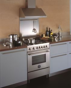 Urban dwelling Italian style with this 60cm stainless steel range cooker from Bertazzoni - great for small kitchens.