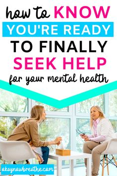 When to See a Therapist - Seeing a counselor might seem scary and embarrassing, especially when you're struggling with your mental health. This post covers 5 signs you should go to therapy, such as stress, anxiety, and unhealthy coping strategies. Seeking help from an online therapist is great self-care! #therapist #counselor #selfcaretips #selfcareadvice #counseling #mentalhealth #stress
