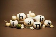 white pumpkins for thanksgiving centerpiece
