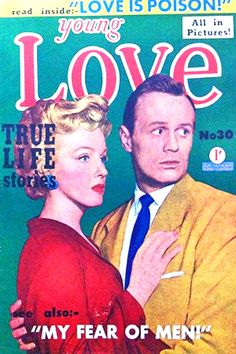 1952: Young Love (UK) magazine cover of Marilyn Monroe & Richard Widmark promoting the film 'Don't Bother To Knock' .