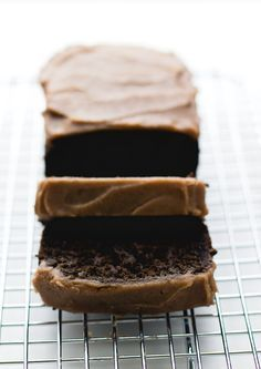 Chocolate Carob Bread with Date Caramel Frosting {paleo, egg-free}