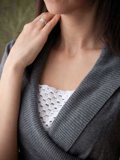 For necklines that are a bit too daring, this super-easy camisole fill-in is the perfect accessory for a modest solution! This e-pattern was originally published in Scrap Crochet!