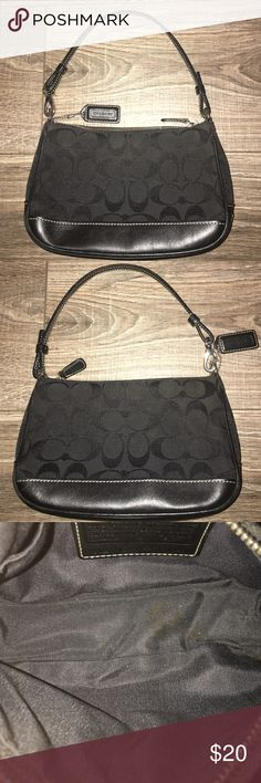 """Authentic Coach Purse Authentic Coach Purse: EUC! Measurements: 8""""L, 5""""H, 2.5""""W. The bag does not have any stains or tears. The inside shows a mark in the bottom of the inside lining- but this is not seen without the use of the flash. Coach Bags"""