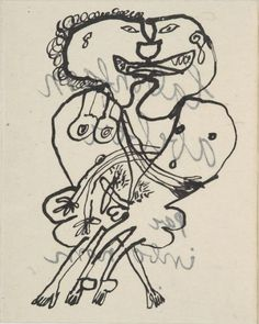 JEAN DUBUFFET   LA BONFAM ABEBER PAR INBO NOM Graphic Design Illustration, Illustration Art, I Love You Drawings, Jean Dubuffet, Conceptual Drawing, Art Brut, Art Walk, Outsider Art, Famous Artists