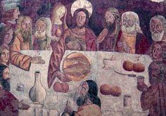 Anonimo - Ultima Cena  - chiesa di Santa Maria o del Purgatorio a Carunchio (Chieti)