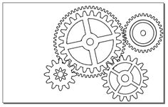 gears | Coloring the gears - On paper