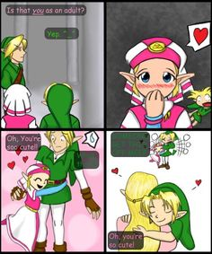 child link is lucky to have an adult love him as u can see he looks like to be enjoying it ^_^