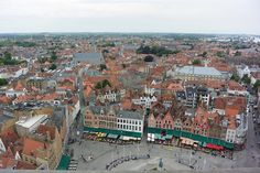 """For the best view of the entire city climb the bell tower in the center of town. This is the same tower they used in the movie """"In Bruges. Stuff To Do, Things To Do, Life Is A Journey, Bruges, Nice View, Great Photos, Climbing, Paris Skyline, Tower"""