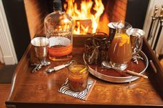 Apple-Ginger Whisky Sours. #fall #drink #recipes